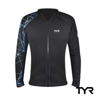 【TYR】Ray front Zip男款潛水防寒拉鍊式外套上衣(潛水專用)