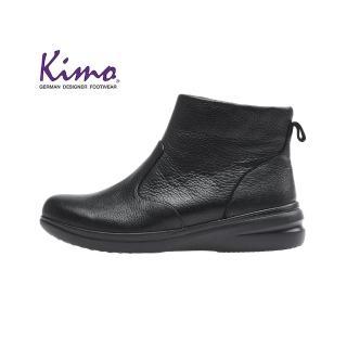【Kimo】※機能防水※都市風乾燥舒適平底中筒靴(百搭黑KAIWF071363A)