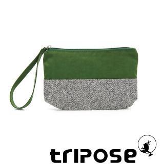 【tripose】漫遊系列岩紋x微皺尼龍多功能手拎袋-大(綠)