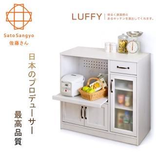 【Sato】LUFFY映日浮光單抽三門開放收納櫃‧幅88cm-兩色可選(收納櫃)