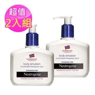 【Neutrogena露得清】潤膚乳霜-長效配方無香精2入組(155mlx2)