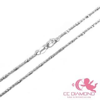 【CC Diamond】義大利進口14K項鏈-閃亮白K(很耐用 18吋)