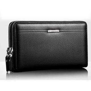 【Sp house】Men bag商務紳士雙拉鍊大容量手拿包(2色可選)