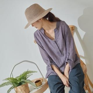 【*KatieQ 慢。生活】袖身調節反釦假兩件上衣-F(綠/紫/灰)