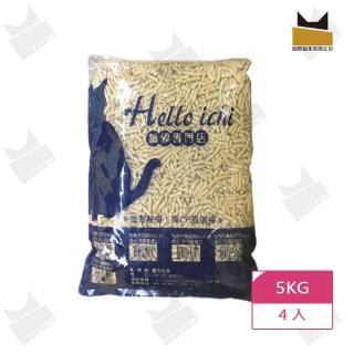 【國際貓家】HelloIchi松木健康木屑砂5KG*4包(崩解式松木砂)