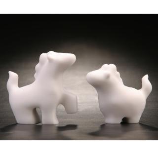 【Gallery Chuan 筌美術】華麗遊行_白石雕(動物 馬 送禮 限量)