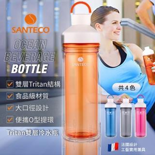 【法國Santeco】Ocean Tritan 雙層冷水瓶 590ml(共4色)