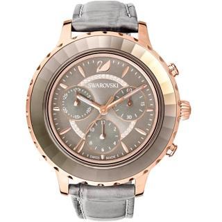【SWAROVSKI 施華洛世奇】Octea Lux Chrono手錶(5452495 灰)