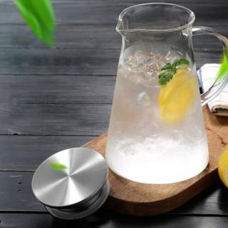 INS北歐簡約耐熱玻璃冷水壺(1800ml 不鏽鋼耐熱玻璃冷水壺)