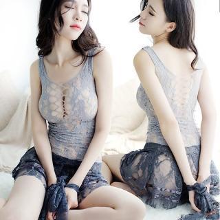 【Sexy angel】蕾絲連身性感摟空情趣睡衣內衣女教師秘書夜店女神角色扮演情趣服(爆乳夜店制服款cosplay)