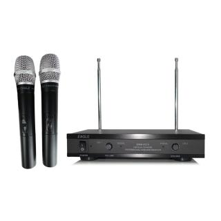 【EAGLE 美國鷹】EWM-P21V(雙頻無線麥克風/消除干擾/唱歌/會議/演說/教學/遊覽車)