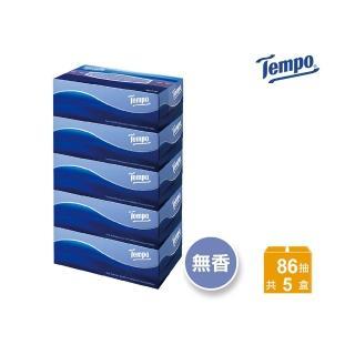 【TEMPO】三層盒裝面紙-天然無香(86抽x5盒/串)