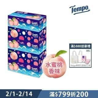 【TEMPO】三層盒裝面紙-水蜜桃限量版(86抽x5盒/串)
