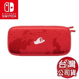 【Nintendo 任天堂】Switch 原廠 主機收納包附螢幕保護貼-瑪利歐紅(台灣公司貨)