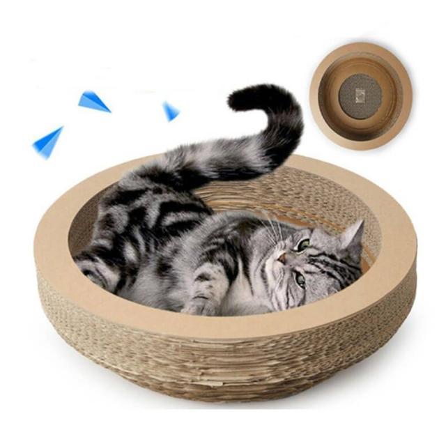 【碗型瓦楞型】貓抓板(可當睡窩)