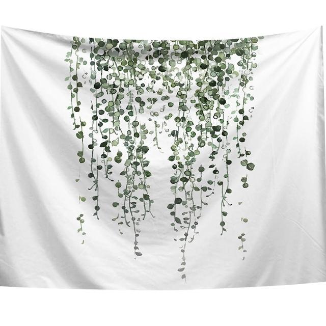 【半島良品】贈星星燈-綠葉藤/北歐掛布掛毯(掛毯