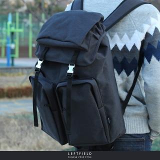 【LEFTFIELD】韓國皮革拼接後背包 NO.LF807(電腦後背包 休閒後背包)