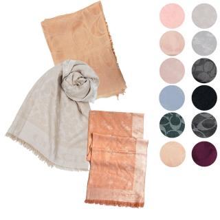 【COACH】LOGO羊毛混絲/針織混羊毛-素色披肩圍巾(多款可選)