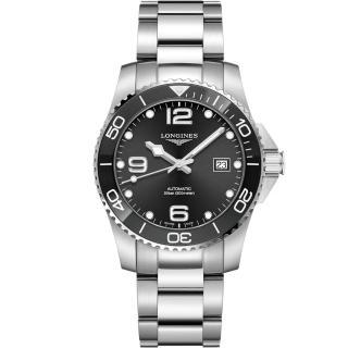 【LONGINES 浪琴】深海征服者陶瓷框潛水機械錶(L37814566)