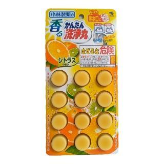 【小林製藥】排水管香氛除垢清潔錠12錠裝(柑橘)