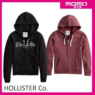 【HOLLISTER Co】經典款刺繡連帽外套多款選