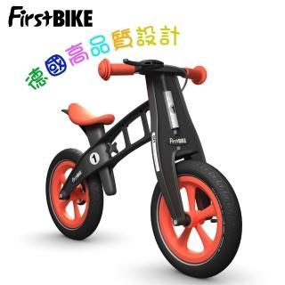 【FirstBike】德國高品質設計 LIMITED限定版兒童滑步車/學步車-黑金鋼橘紅
