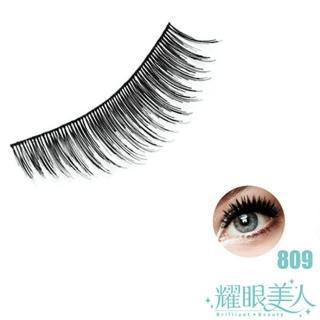 【耀眼美人】耀眼美人天然髮絲輕柔假睫毛明梗809無瑕(3對入超值桃花組)
