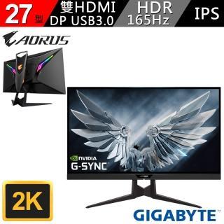 【GIGABYTE 技嘉】AORUS FI27Q 27型 2K HDR IPS電競螢幕(AORUS FI27Q-AP  27型MONITOR)