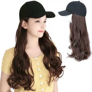 【幸福揚邑】棒球帽大波浪長卷髮美拍直播顯瘦造型必備假髮帽