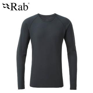 【RAB】Forge LS Tee 長袖羊毛透氣排汗衣 男款 鯨魚灰 #QBU85