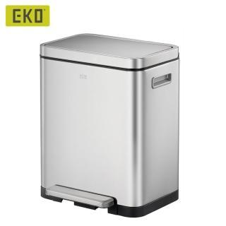 【EKO】炫酷靜音垃圾桶-20L(居家/客廳/廚房/衛浴/收納桶/不鏽鋼垃圾桶/緩降垃圾桶/回收桶)