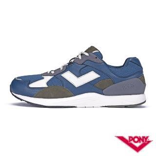 【PONY】BOUNCE系列-復古運動鞋 厚底老爹鞋 潮流 舒適 球鞋 男款 藍色