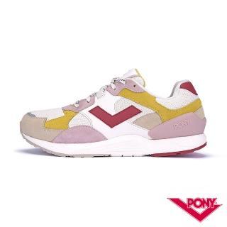 【PONY】BOUNCE系列-復古運動鞋 厚底老爹鞋 潮流 舒適 球鞋 女款 粉白