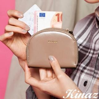 【KINAZ】驚喜圓滑貼心分層零錢包-奇幻可可棕-小物魔法系列