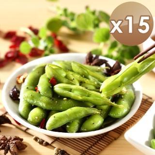 【ichicken 艾其肯】涼拌黑胡椒毛豆莢(15入組)