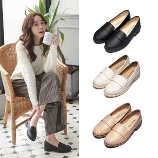 【FUFA Shoes 富發牌】典雅英倫風氣質樂福鞋-黑 1CT28