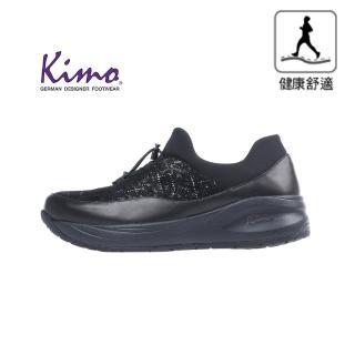 【Kimo】※守護足底健康※高機能絢麗時尚鬆緊舒適彈性健康鞋(都市黑KAIWF160023)
