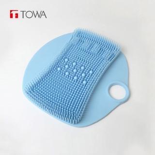 【日本東和TOWA】易起泡防滑矽膠按摩足底搓腳墊(美足 腳底 洗澡 清潔 去角質 保養 孕婦 浴室 免彎腰 懶人)