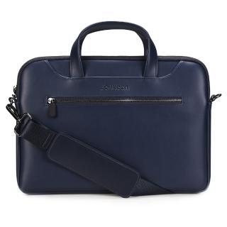 【Jokitech】Macbook筆電包 手提電腦包 公事包 事務包 ipad平板保護包 電腦袋(深藍色 13吋 13.3吋)