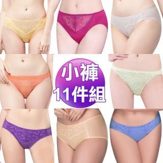 【Swear 思薇爾】蕾絲M-XXL包臀小褲11件組(隨機出貨)
