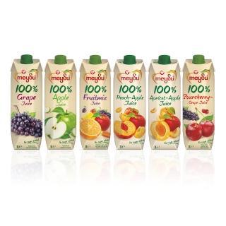 【meysu】美愫100%純天然果汁1000ML綜合6入組(吳鳳推薦)