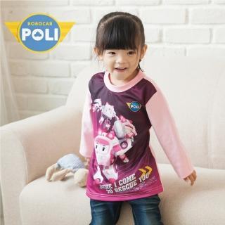 【POLI 波力】AMBER安寶 變形金剛拼接長袖上衣-粉紅(P1209-10)