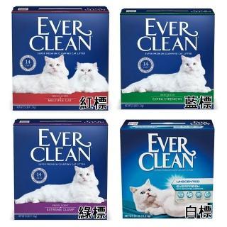 【EverClean 藍鑽】強效凝結除臭貓砂25lb