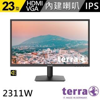 【terra 沃特曼】2311W 23型零閃屏抗藍光廣視角螢幕(五年保固/內建喇叭)