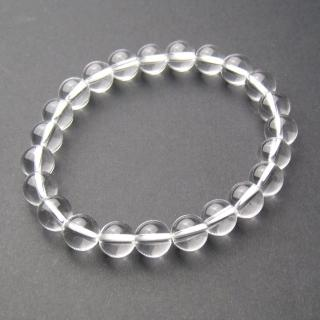 【LuckyPlus】8mm天然特A級白水晶串珠手環(可選手圍尺寸)
