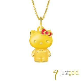 【Just Gold 鎮金店】Lovely Memories純金系列 黃金墜子-Kitty