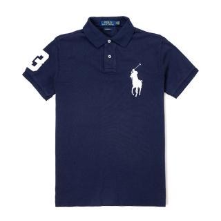 【RALPH LAUREN】Polo Ralph Lauren 經典大馬刺繡短袖Polo衫-深藍色