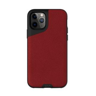 【Mous】Contour 天然材質防摔保護殼-緋紅皮革(iPhone 11 Pro 5.8吋)