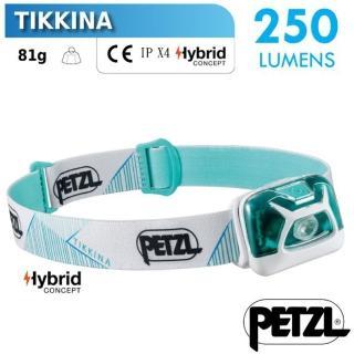 【PETZL】TIKKINA 超輕量戶外頭燈/250流明.IPX4防水.LED頭燈(E091DA03 綠)