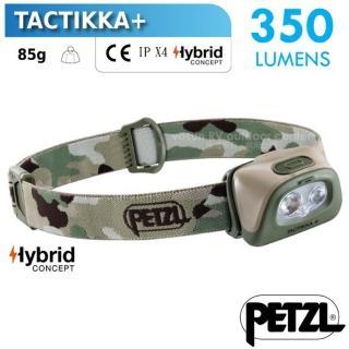 【PETZL】新款 TACTIKKA+ 超輕量標準頭燈/350流明.IPX4防水.LED頭燈(E089EA01 迷彩)